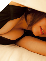 Neo Asian in very hot lingerie is bored and waits for some action