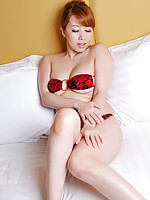 Yumi Kazama Asian spoils big behind and big hooters with shower